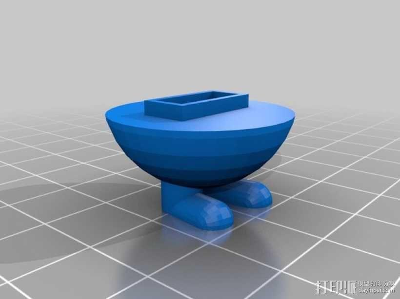 小型USB密钥 3D模型  图2