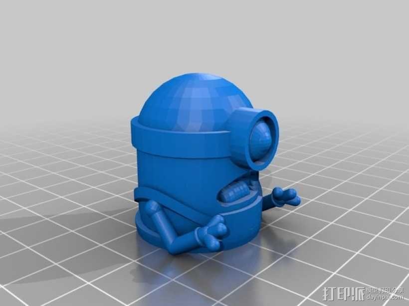 小型USB密钥 3D模型  图3