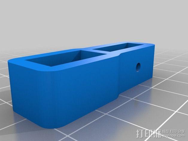 电源连接器 3D模型  图2
