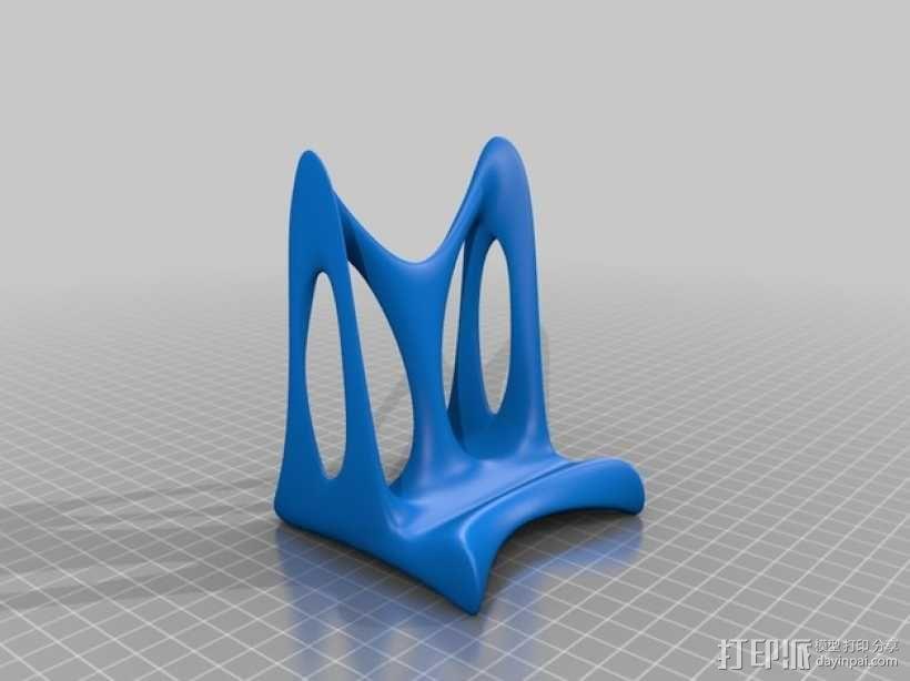 手机站架 3D模型  图6