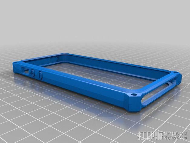 带孔iPhone 5/5s手机套 3D模型  图3