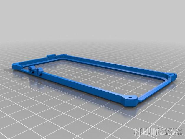 带孔iPhone 5/5s手机套 3D模型  图2