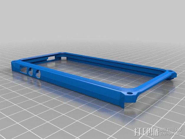 带孔iPhone 5/5s手机套 3D模型  图4