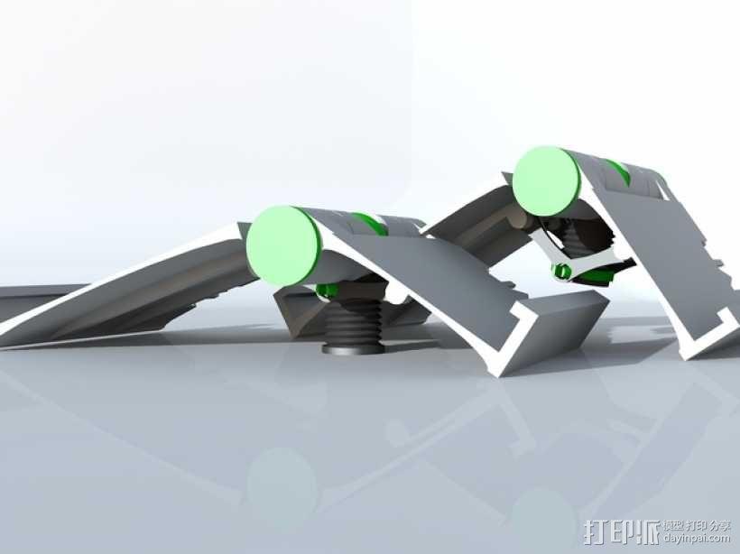 可调整式平板站架 3D模型  图1