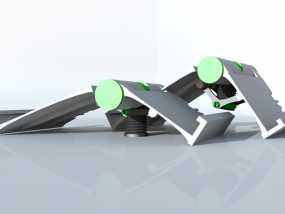 可调整式平板站架 3D模型