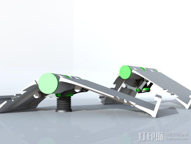 可调整式平板站架 3D模型  图4