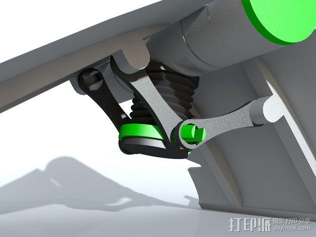 可调整式平板站架 3D模型  图2