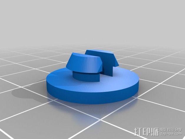 可调整式平板站架 3D模型  图5