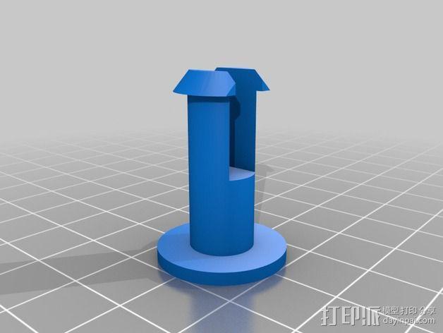 可调整式平板站架 3D模型  图7