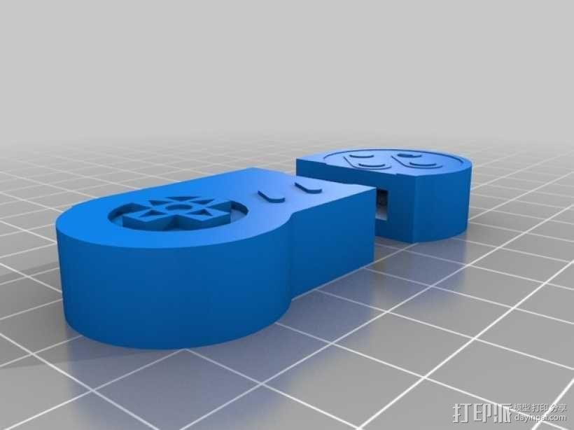 SNES闪存盘保护套 3D模型  图2