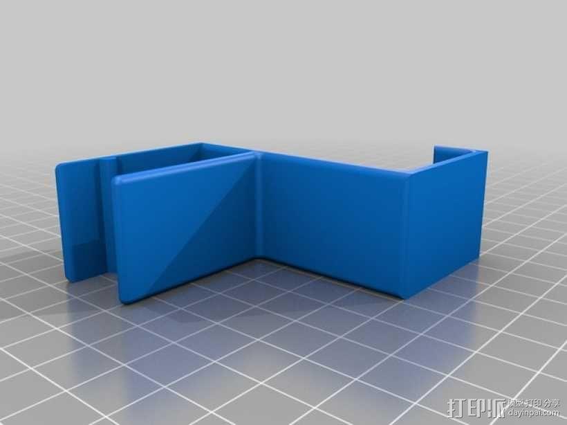 书架耳机挂钩 3D模型  图5