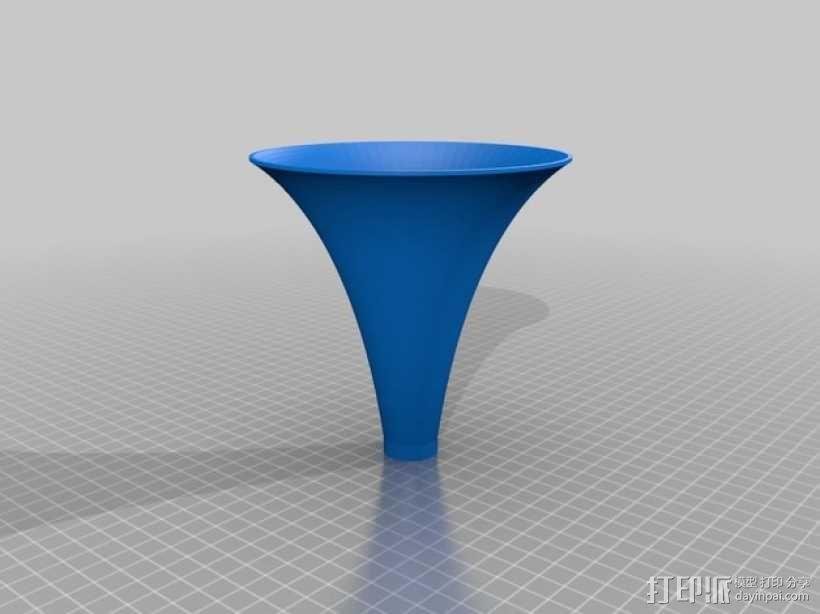 等切矩曲线喇叭 3D模型  图1