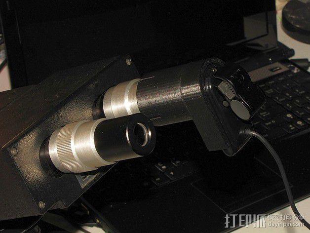 罗技摄像头适配器 3D模型  图1
