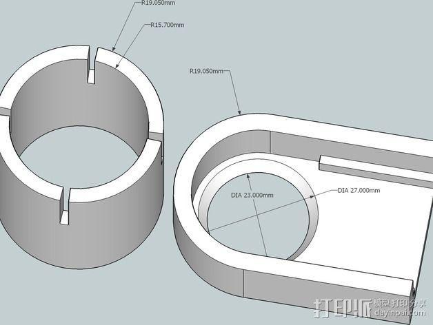 罗技摄像头适配器 3D模型  图4