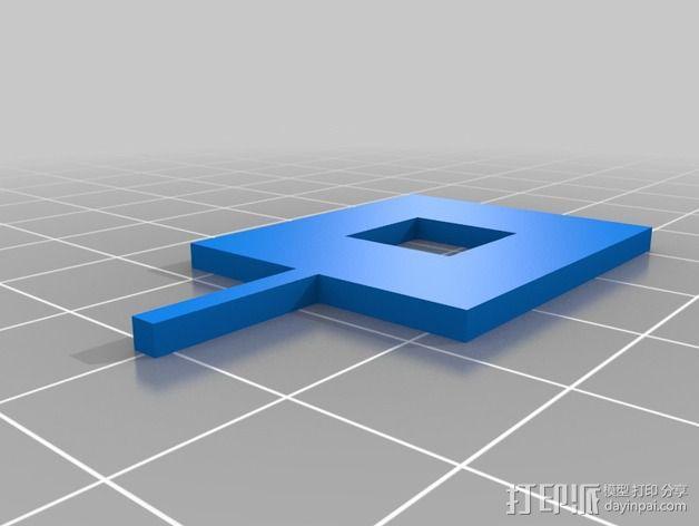 树莓派照相机支架 3D模型  图6