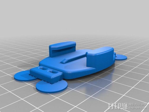 相机脚架 相机座 3D模型  图2