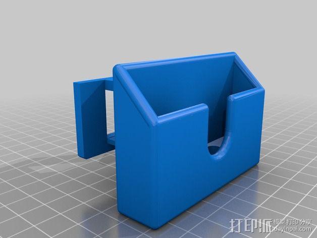 Galaxy S2墙面插头支架 3D模型  图4
