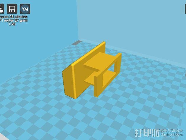Galaxy S2墙面插头支架 3D模型  图6