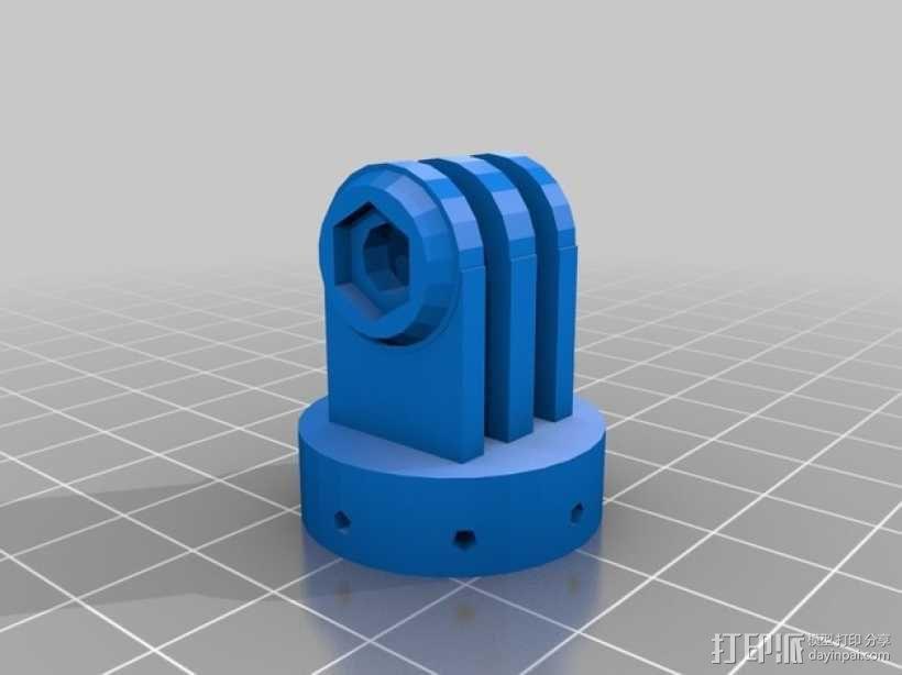 GoPro相机座 3D模型  图2