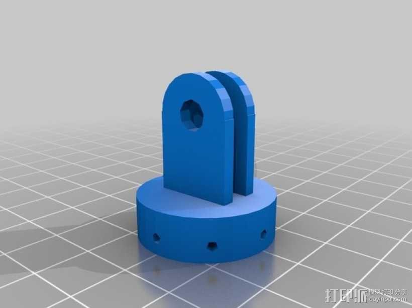 GoPro相机座 3D模型  图3