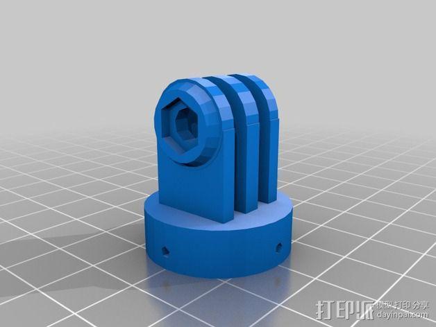 GoPro相机座 3D模型  图5