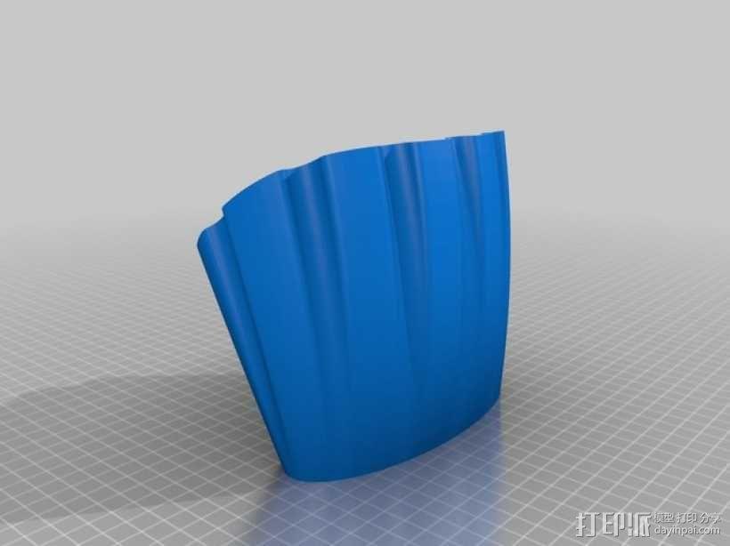 手机喇叭扬声器 3D模型  图3
