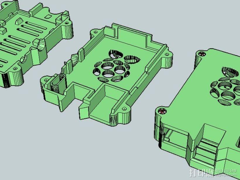 安全的树莓派保护套 3D模型  图5