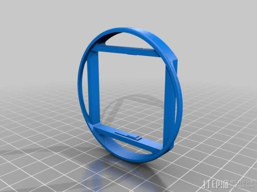 极限运动专用相机3 58毫米滤光片夹 3D模型  图1