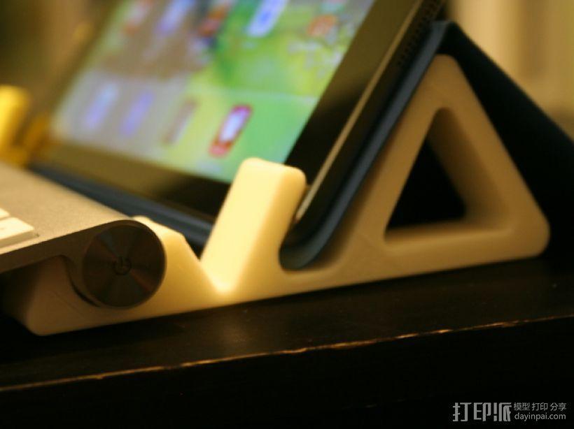 iPad键盘站架 3D模型  图1