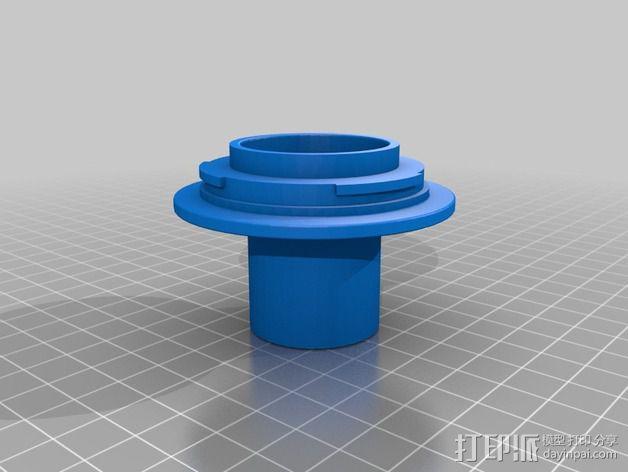 """佳能Eos EF 对 1,25"""" 显微镜或望远镜的适配器 3D模型  图2"""
