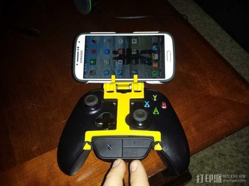 游戏机手柄 手机支架 3D模型  图1