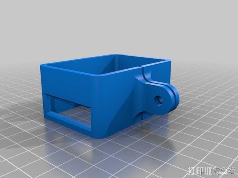 极限运动专用相机Hero 2麦克风框架 3D模型  图1