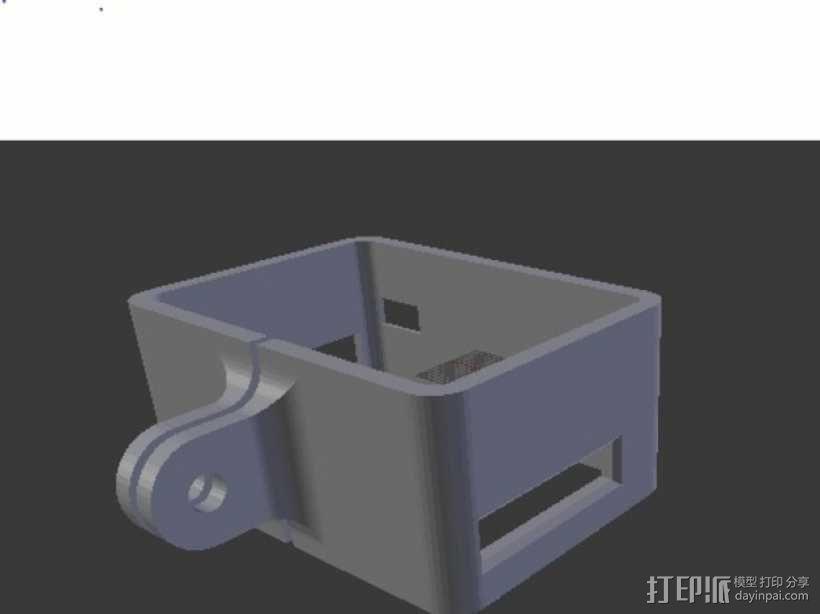 极限运动专用相机Hero 2麦克风框架 3D模型  图6