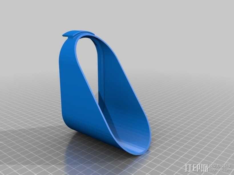 Nexus 5 无线充电架 3D模型  图2