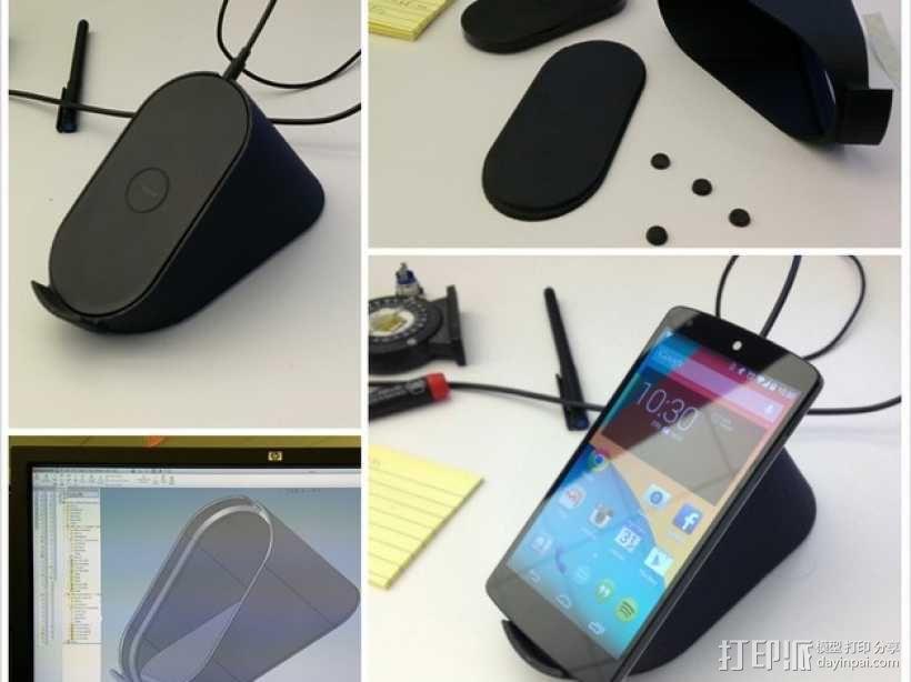 Nexus 5 无线充电架 3D模型  图1