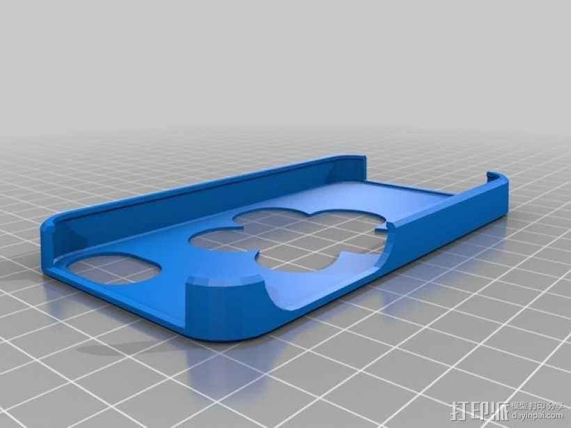 iPhone 4S镂空花手机套 3D模型  图1