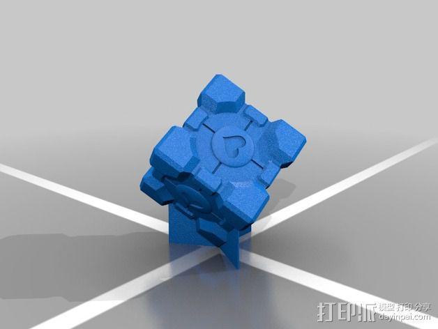 companion cube方块 3D模型  图2