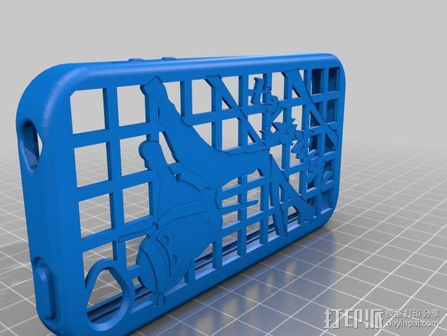 灵活式 Iphone4手机套 3D模型  图2