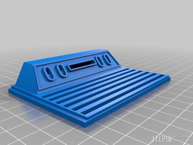 Atari 2600 树莓派外盒 3D模型  图3