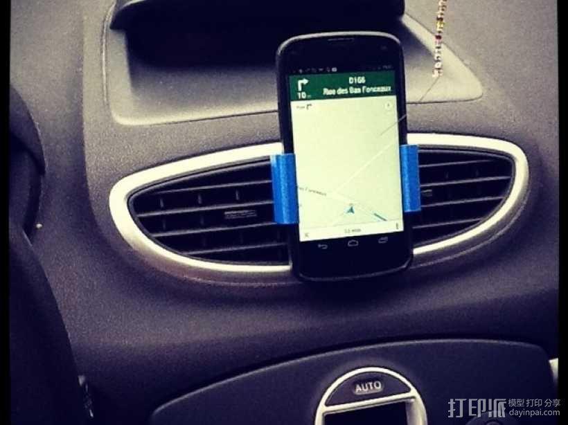 Nexus 4(和bumper) 车用支架 3D模型  图1