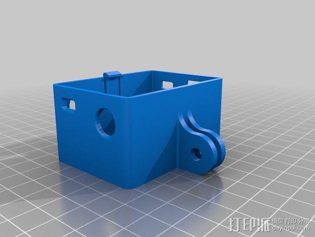 GoPro Hero 3 +相机固定框 3D模型  图2