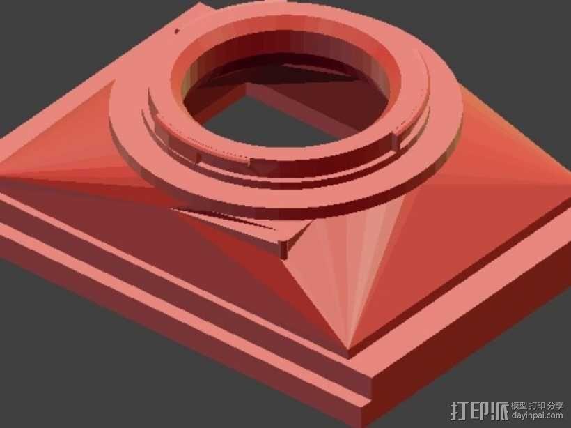 相机适配器 3D模型  图5