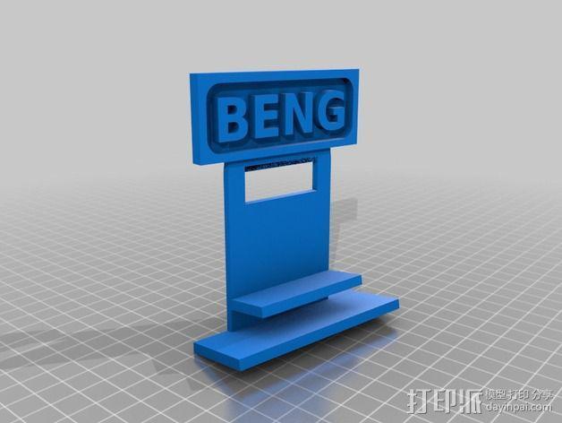 墙体插座手机支架 3D模型  图3