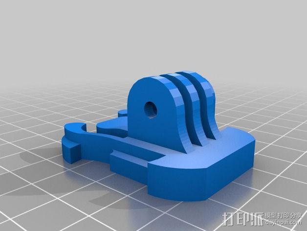 GoPro相机座连接器 3D模型  图3