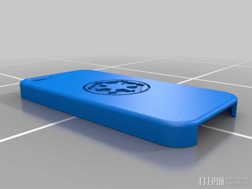 星球大战标志 iPhone5手机保护套 3D模型  图3