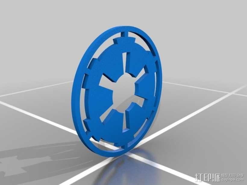 星球大战标志 iPhone5手机保护套 3D模型  图2