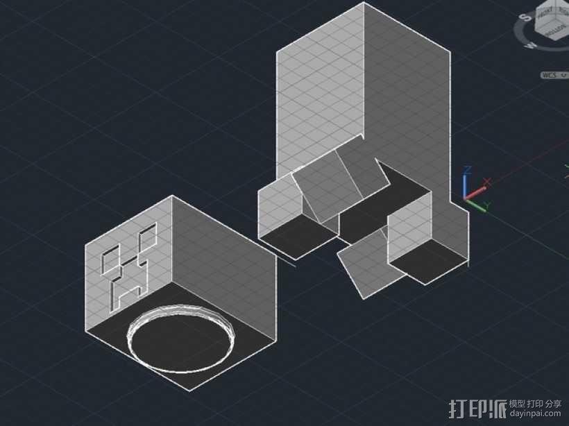我的世界 爬行者 罐子  3D模型  图2