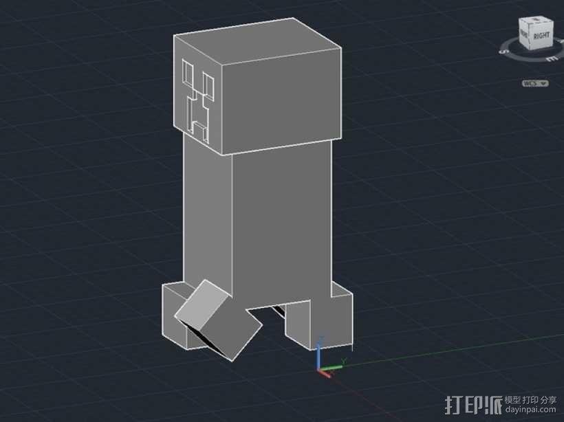 我的世界 爬行者 罐子  3D模型  图6