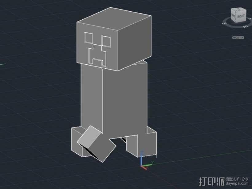 我的世界 爬行者 罐子  3D模型  图4