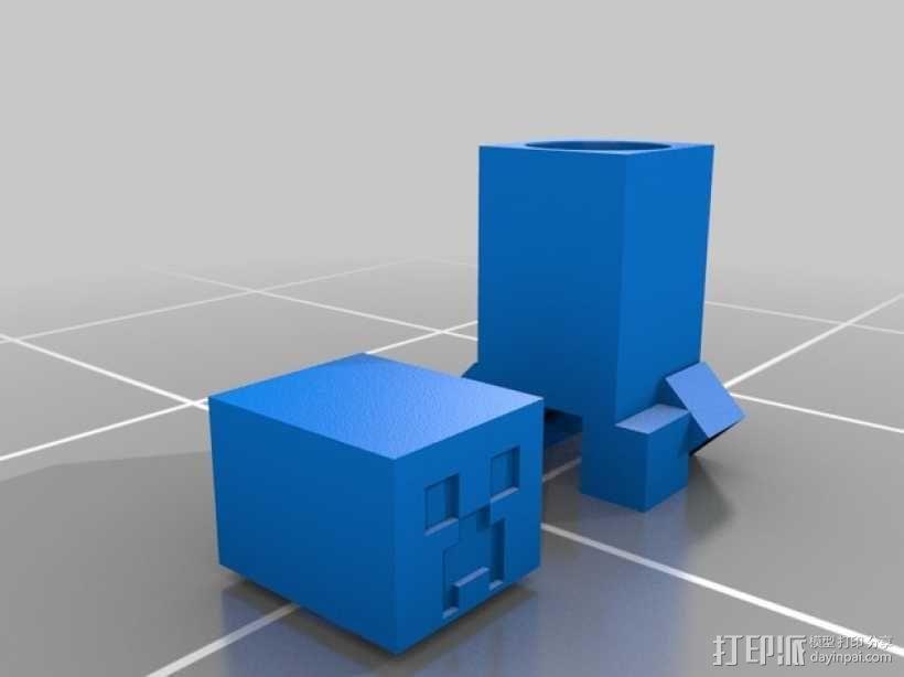 我的世界 爬行者 罐子  3D模型  图7